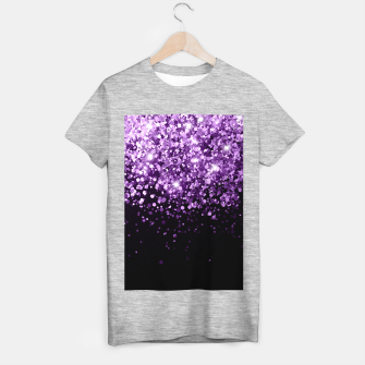 Dark Night Purple Black Glitter #1 (Faux Glitter) #shiny #decor #art T-Shirt regulär obraz miniatury