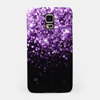 Miniatur Dark Night Purple Black Glitter #1 (Faux Glitter) #shiny #decor #art Handyhülle für Samsung, Live Heroes