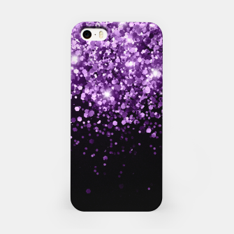 Dark Night Purple Black Glitter #1 (Faux Glitter) #shiny #decor #art iPhone-Hülle obraz miniatury