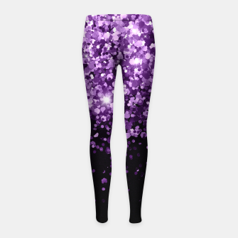 Dark Night Purple Black Glitter #1 (Faux Glitter) #shiny #decor #art Kinder-Leggins obraz miniatury