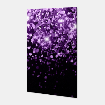Miniatur Dark Night Purple Black Glitter #1 (Faux Glitter) #shiny #decor #art Canvas, Live Heroes