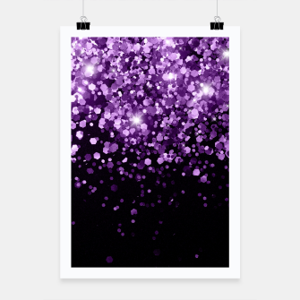 Dark Night Purple Black Glitter #1 (Faux Glitter) #shiny #decor #art Plakat miniature