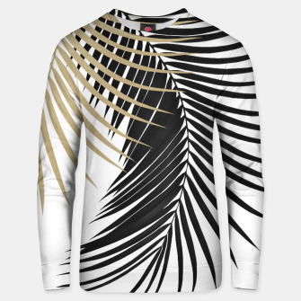 Palm Leaves Gold & Black Vibes #1 #tropical #decor #art  Unisex sweatshirt obraz miniatury