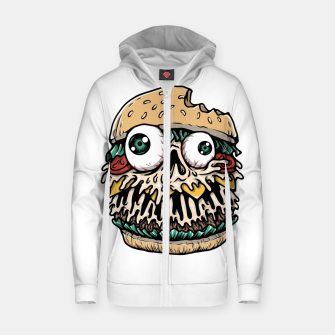Hamburger Monster Zip up hoodie Bild der Miniatur