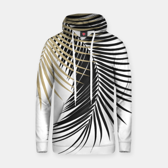 Palm Leaves Gold & Black Vibes #1 #tropical #decor #art  Kapuzenpullover obraz miniatury