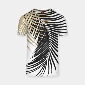 Palm Leaves Gold & Black Vibes #1 #tropical #decor #art  T-Shirt thumbnail image