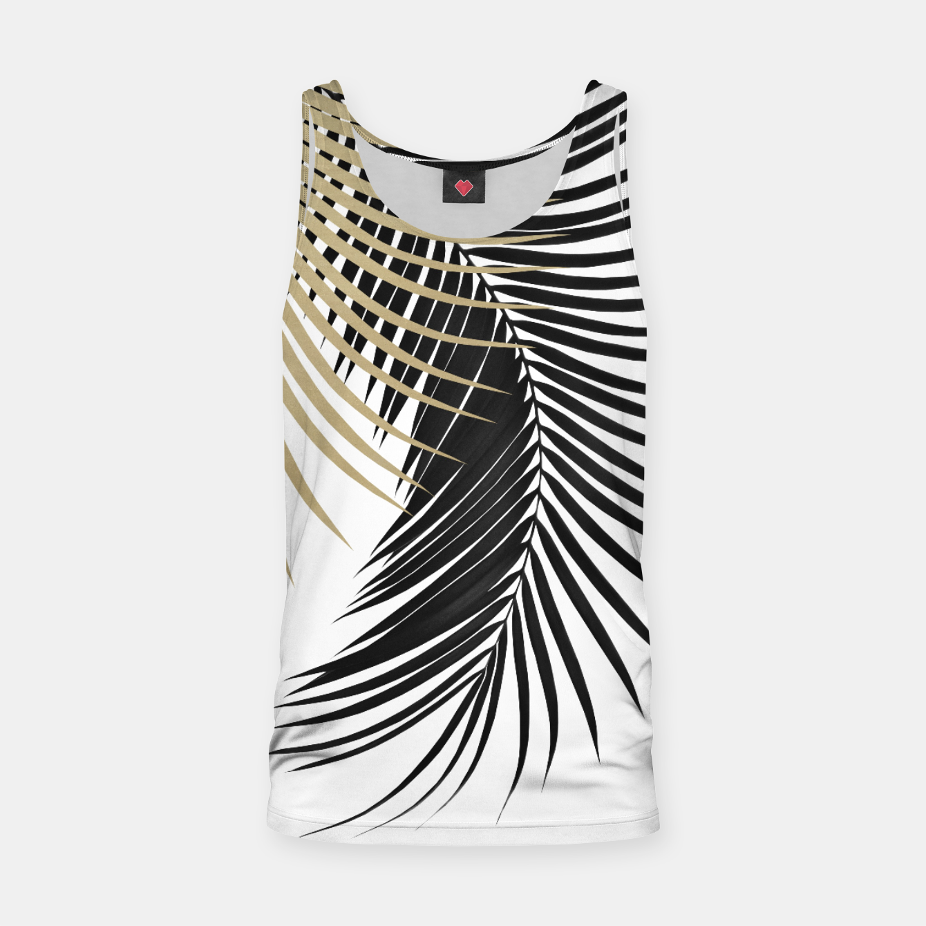 Zdjęcie Palm Leaves Gold & Black Vibes #1 #tropical #decor #art  Muskelshirt  - Live Heroes