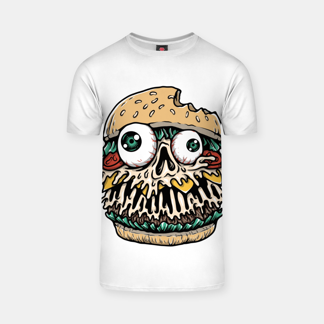 Foto Hamburger Monster T-shirt - Live Heroes
