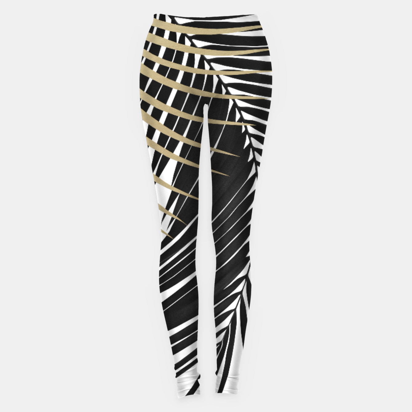 Image de Palm Leaves Gold & Black Vibes #1 #tropical #decor #art  Leggings - Live Heroes