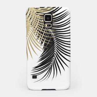 Miniatur Palm Leaves Gold & Black Vibes #1 #tropical #decor #art  Handyhülle für Samsung, Live Heroes