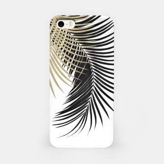 Palm Leaves Gold & Black Vibes #1 #tropical #decor #art  iPhone-Hülle miniature