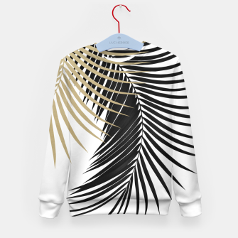 Miniaturka Palm Leaves Gold & Black Vibes #1 #tropical #decor #art  Kindersweatshirt, Live Heroes