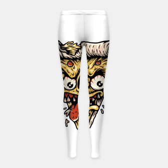 Pizza Monster Girl's leggings Bild der Miniatur