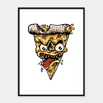Pizza Monster Framed poster Bild der Miniatur