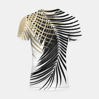 Palm Leaves Gold & Black Vibes #1 #tropical #decor #art  Shortsleeve rashguard thumbnail image