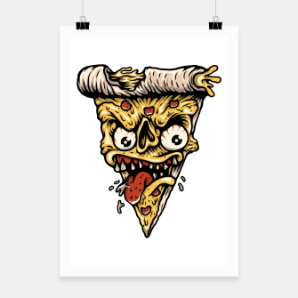 Pizza Monster Poster Bild der Miniatur