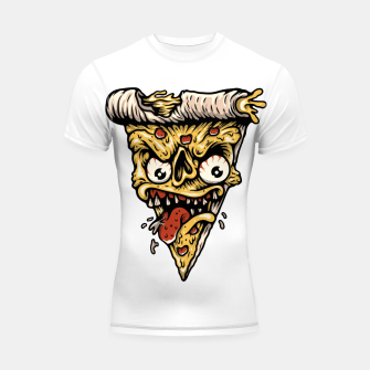 Pizza Monster Shortsleeve rashguard Bild der Miniatur