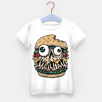 Hamburger Monster Kid's t-shirt Bild der Miniatur