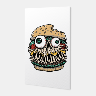 Hamburger Monster Canvas Bild der Miniatur