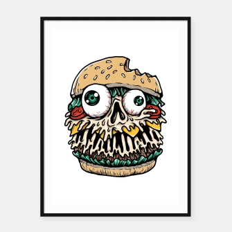 Miniatur Hamburger Monster Framed poster, Live Heroes