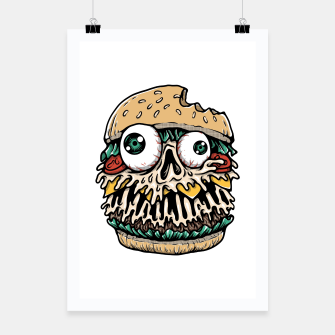 Miniatur Hamburger Monster Poster, Live Heroes