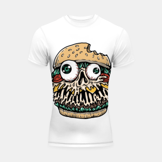Hamburger Monster Shortsleeve rashguard Bild der Miniatur
