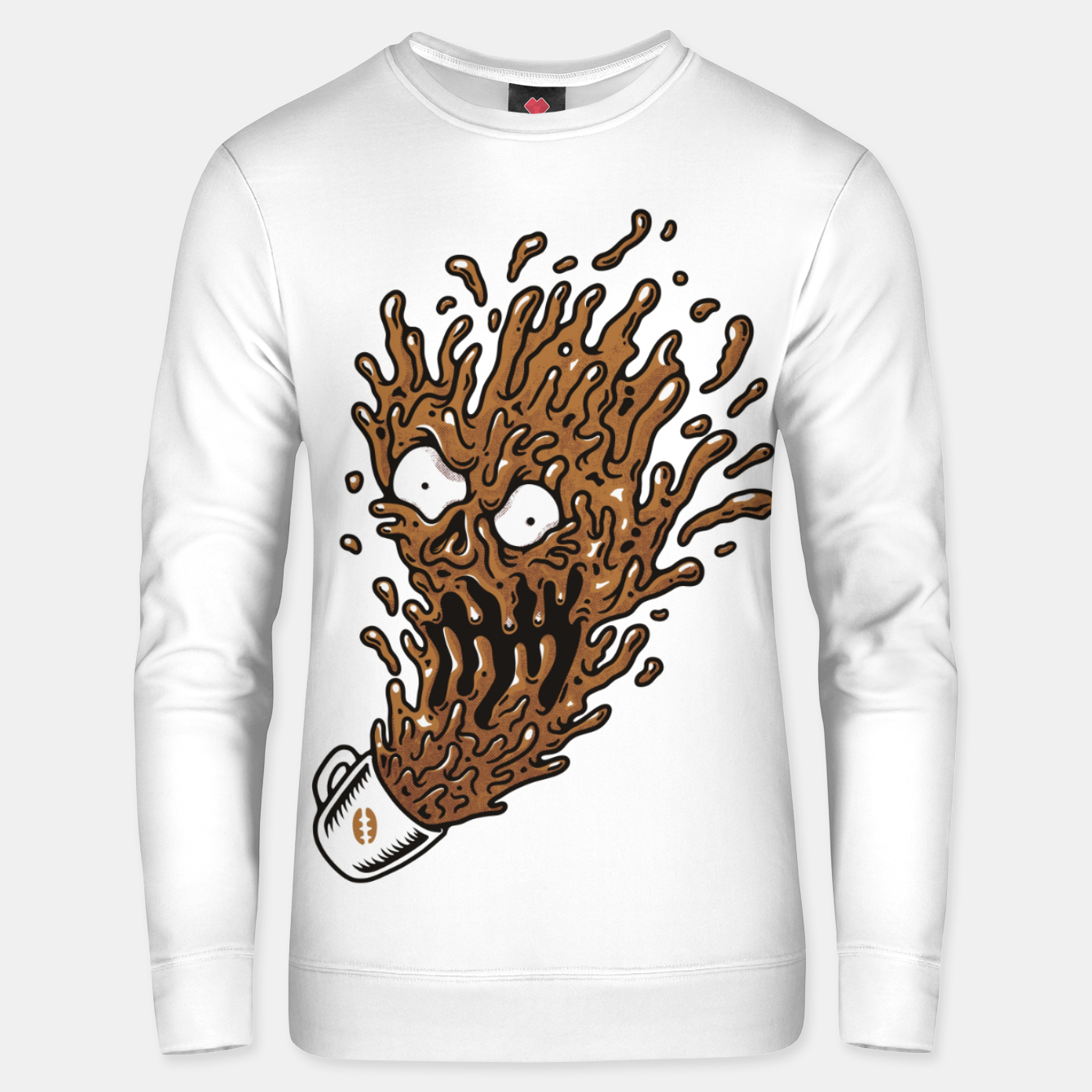 Foto Coffee Monster Unisex sweater - Live Heroes