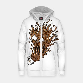 Miniatur Coffee Monster Zip up hoodie, Live Heroes