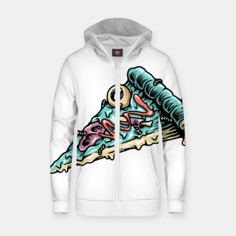 Thumbnail image of Pizza Zombie Zip up hoodie, Live Heroes