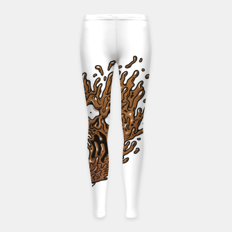 Coffee Monster Girl's leggings Bild der Miniatur