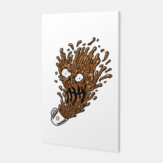 Coffee Monster Canvas Bild der Miniatur