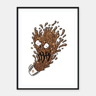 Miniatur Coffee Monster Framed poster, Live Heroes