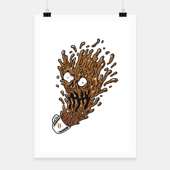 Coffee Monster Poster Bild der Miniatur