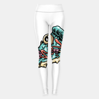 Thumbnail image of Pizza Zombie Leggings, Live Heroes