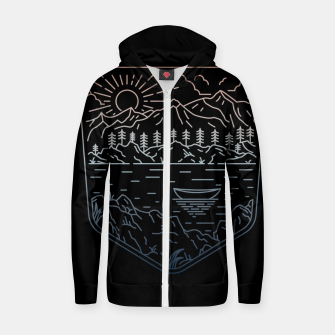 Thumbnail image of Canoe Zip up hoodie, Live Heroes