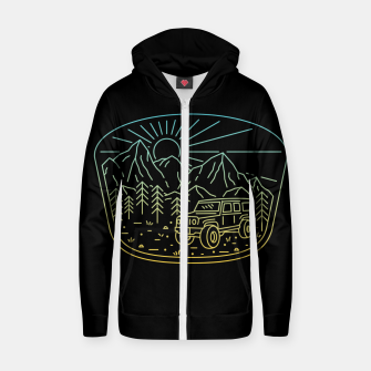 Miniatur Expedition Zip up hoodie, Live Heroes
