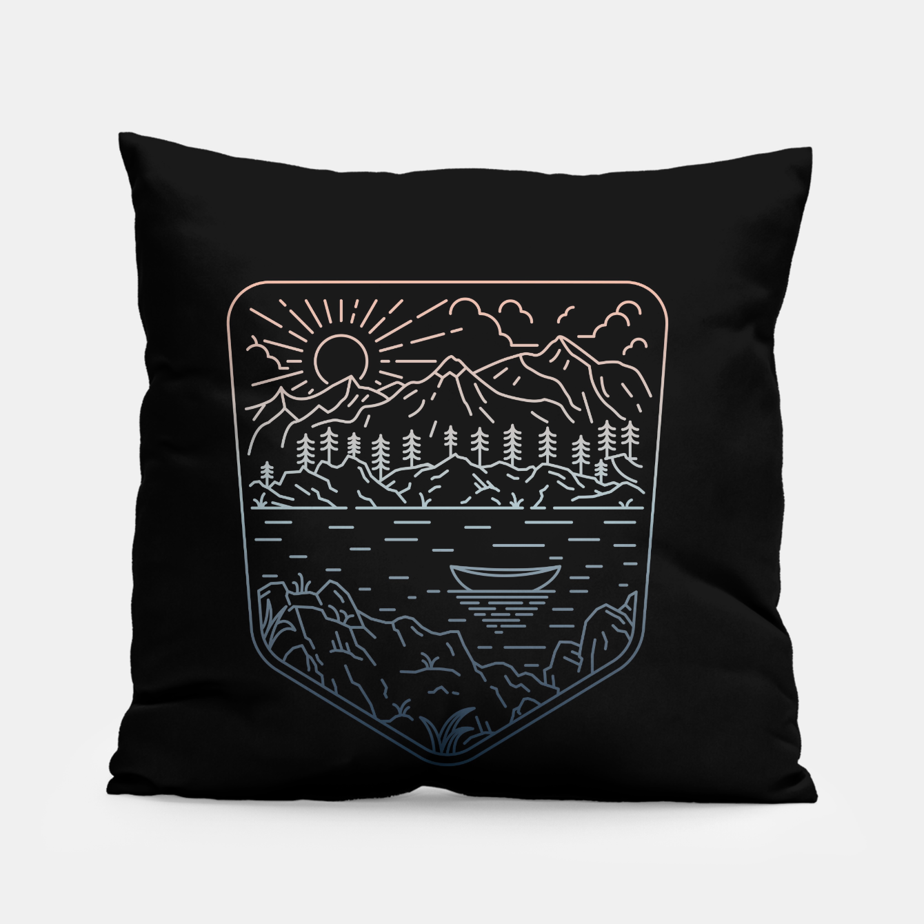 Image of Canoe Pillow - Live Heroes