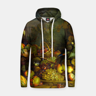 Imagen en miniatura de Parrots, Fruits and Other Animals Still Life Painting Hoodie, Live Heroes