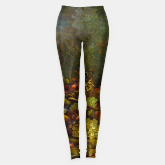Imagen en miniatura de Parrots, Fruits and Other Animals Still Life Painting Leggings, Live Heroes