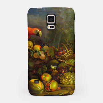 Imagen en miniatura de Parrots, Fruits and Other Animals Still Life Painting Samsung Case, Live Heroes
