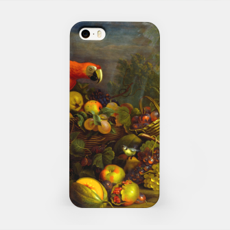 Imagen en miniatura de Parrots, Fruits and Other Animals Still Life Painting iPhone Case, Live Heroes