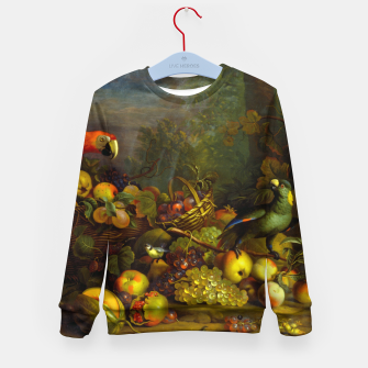 Imagen en miniatura de Parrots, Fruits and Other Animals Still Life Painting Kid's sweater, Live Heroes