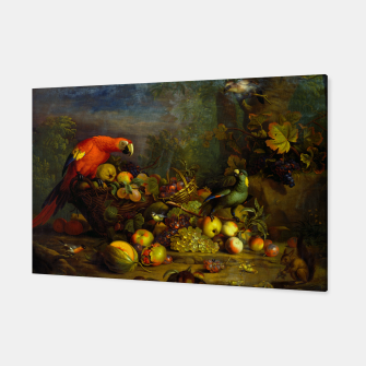 Imagen en miniatura de Parrots, Fruits and Other Animals Still Life Painting Canvas, Live Heroes