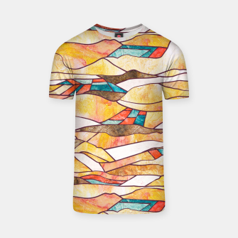 Monegros Abstract landscape Camiseta Bild der Miniatur