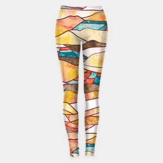 Monegros Abstract landscape Leggings Bild der Miniatur
