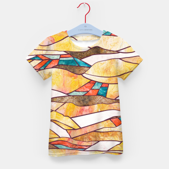 Monegros Abstract landscape Camiseta para niños Bild der Miniatur