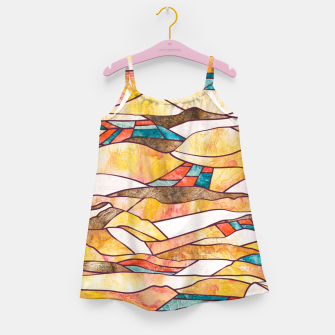 Thumbnail image of Monegros Abstract landscape Vestido para niñas, Live Heroes