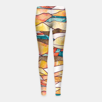 Monegros Abstract landscape Leggings para niña Bild der Miniatur