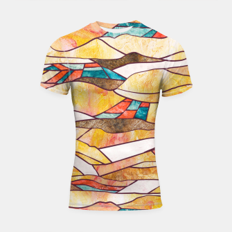 Miniatur Monegros Abstract landscape Shortsleeve rashguard, Live Heroes
