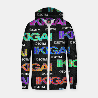 Thumbnail image of IKIGAI Zip up hoodie, Live Heroes